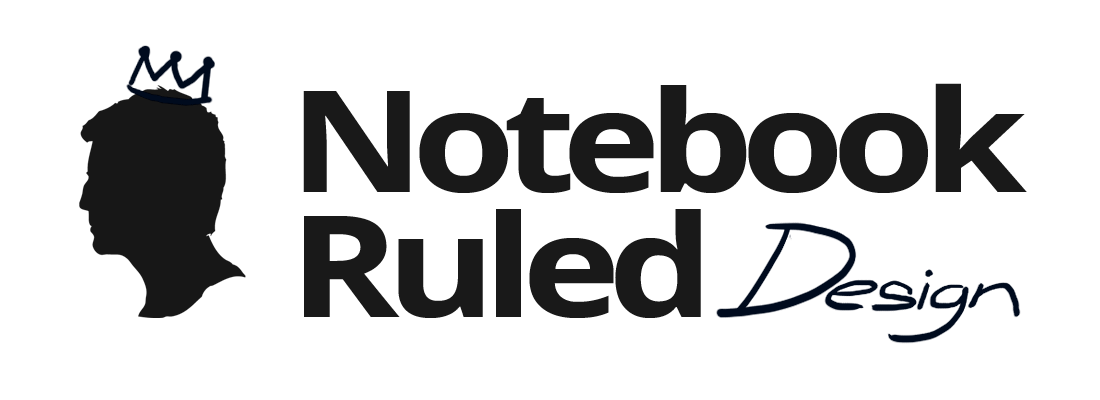 notebook ruled design logo